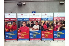BS024 - Custom Banner Stand for Non-Profits and Associations